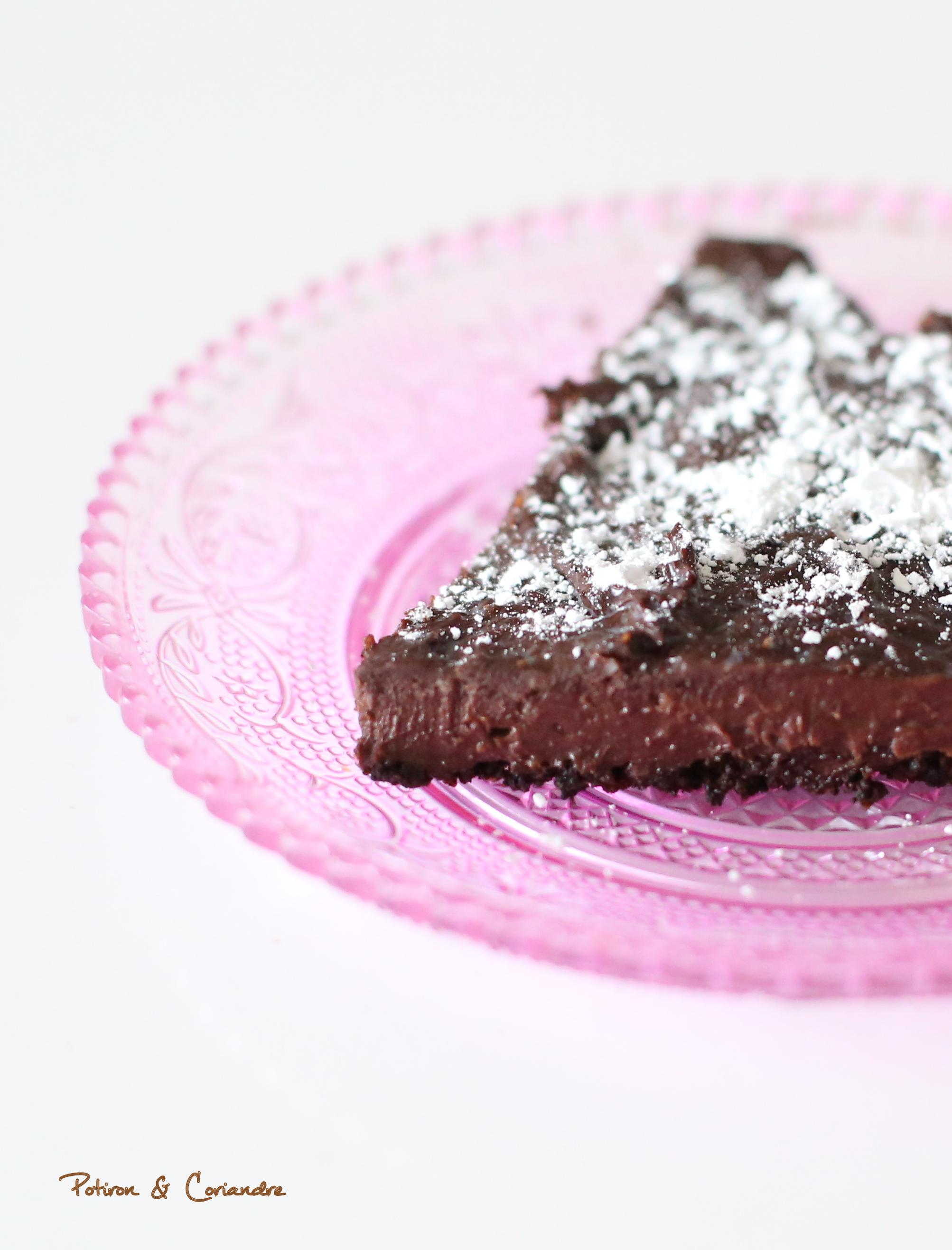 Tarte au chocolat sans farine sans oeuf et sans beurre - Tarte au chocolat sans oeuf ...